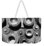 Black And White Abstract Pattern Beautiful Traditional Bowls Weekender Tote Bag