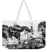 Black And White Amalfi Weekender Tote Bag