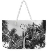 Black And White Anchor Weekender Tote Bag