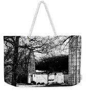 Black And White Barn And Silo Weekender Tote Bag