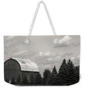 Black And White Barn Weekender Tote Bag