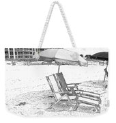 Black And White Beach Chairs Weekender Tote Bag