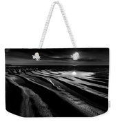 Black And White Beach - Low Tide Weekender Tote Bag
