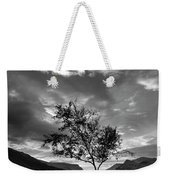 Black And White Beautiful Landscape Image Of Llyn Padarn At Sunr Weekender Tote Bag