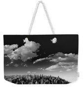 Black And White Blue Ridge Mountains Weekender Tote Bag