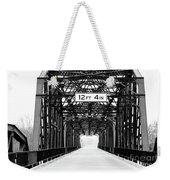 Black And White Bridge Weekender Tote Bag