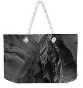 Black And White Buckskin Gulch Weekender Tote Bag