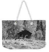 Black And White Cabin Weekender Tote Bag
