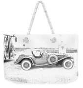 Black And White Car Weekender Tote Bag