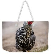 Black And White Chicken Weekender Tote Bag