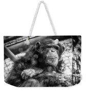 Black And White Chimp Weekender Tote Bag