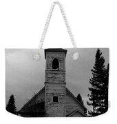 Black And White Church In Williston North Dakota. Weekender Tote Bag