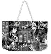 Black And White Collage Weekender Tote Bag