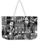 Black And White Collage Weekender Tote Bag