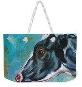 Black And White Cow Weekender Tote Bag