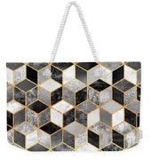 Black And White Cubes Weekender Tote Bag by Elisabeth Fredriksson