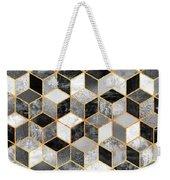 Black And White Cubes Weekender Tote Bag