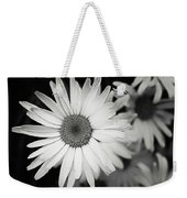 Black And White Daisy 1 Weekender Tote Bag