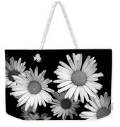 Black And White Daisy 2 Weekender Tote Bag