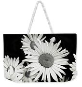 Black And White Daisy 3 Weekender Tote Bag