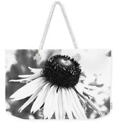 Black And White Daisy Weekender Tote Bag