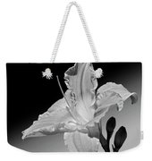 Black And White Daylily Weekender Tote Bag