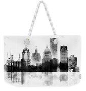 Black And White Detroit Weekender Tote Bag