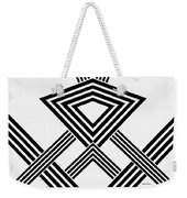 Black And White Diamond Weekender Tote Bag