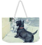 Black And White Dogs Weekender Tote Bag