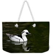 Black And White Duck Weekender Tote Bag