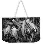 Black And White Ear Of Corn On The Stalk Weekender Tote Bag