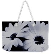 Black And White Floral Art Weekender Tote Bag