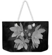 Black And White Flower Weekender Tote Bag