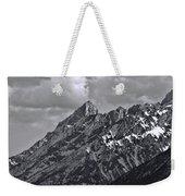 Black And White Grand Teton Detail Weekender Tote Bag