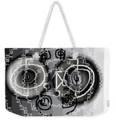 Black And White Healing Ripples Weekender Tote Bag