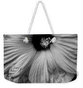 Black And White Hibiscus Weekender Tote Bag