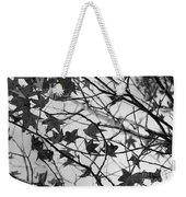 Black And White Leaves Weekender Tote Bag