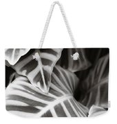 Black And White Leaves Weekender Tote Bag