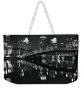 Black And White Lights Weekender Tote Bag