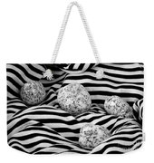 Black And White Lines And Stones  Weekender Tote Bag