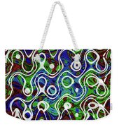 Black And White Lines Overlay Abstract Weekender Tote Bag