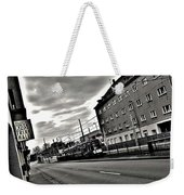 Black And White Lonely Road Weekender Tote Bag