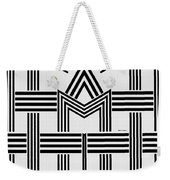 Black And White M Weekender Tote Bag