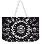 Black And White Mandala No. 1 Weekender Tote Bag