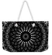 Black And White Mandala No. 2 Weekender Tote Bag