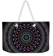 Black And White Mandala No. 4 In Color Weekender Tote Bag