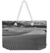 Black And White Mesquite Sand Dunes Weekender Tote Bag