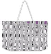 Black And White Metal Panel Abstract Weekender Tote Bag