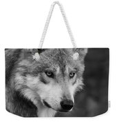 Black And White Mexican Wolf #4 Weekender Tote Bag