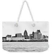 Black And White Motor City Pano Weekender Tote Bag